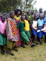 shoe distribution to the old and students at westpokot
